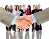 handshake and business group