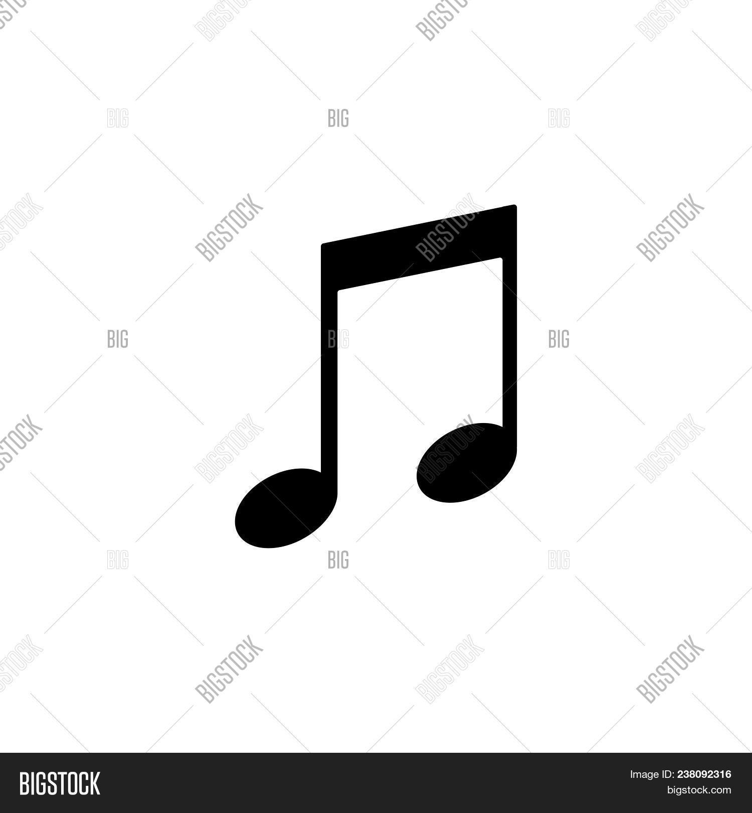 Illustration Of A Quaver Musical Note Photo Stock