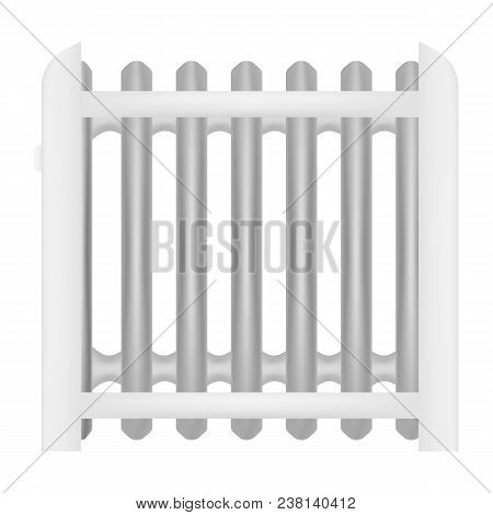 Oil battery icon. Realistic illustration of oil battery vector icon for web stock photo