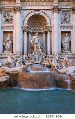 Trevi Fountain-Lg Fridge Magnet Skin (size 36x65)