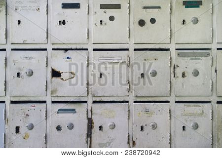 🔥 Old Mailboxes For Post And Letters Inside Of An Aged ...