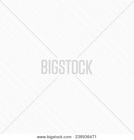 Vector stripes seamless pattern. Thin diagonal lines texture, 45 degrees inclination. Subtle abstract geometric background, white and gray. Simple striped linear paper template. Decorative design. Stripes pattern. Lines pattern. Geometric pattern. stock photo