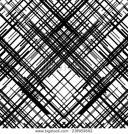 Criss cross pattern. Texture with intersecting straight lines. Design element to create abstract grunge, textured backgrounds, layouts. Digital hatching. Vector illustration stock photo