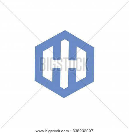 polygonal hexagonal icon in two color design style. polygonal hexagonal vector icon modern and trendy flat symbol for web site, mobile, app, logo, UI. polygonal hexagonal colorful isolated icon on white background. polygonal hexagonal icon simple stock photo