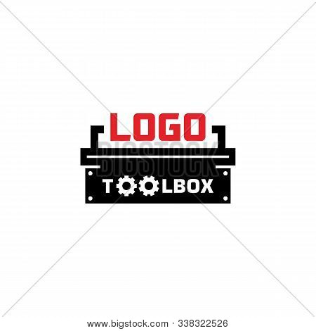 Vector Logo. Toolbox logo. Workshop logo Gear logo. Isolated Toolbox logo with a white background. Simple sign tool box icon. Trendy Toolbox icons and modern symbols for graphic and web design. Flat vector illustration of Toolbox icons for logos, web, app stock photo