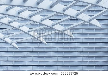 Exterior of modern architecture. Building abstract background pattern stock photo