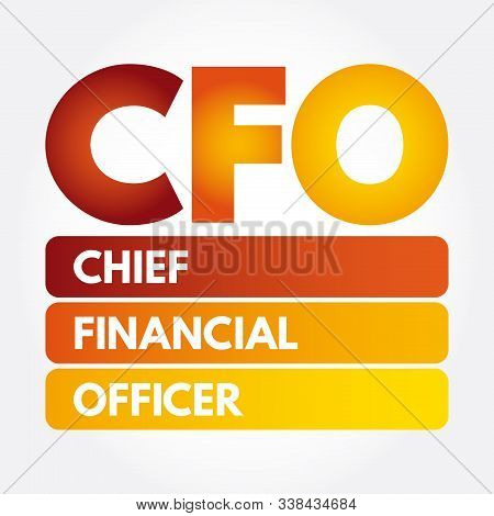 CFO - Chief Financial Officer acronym, business concept background stock photo