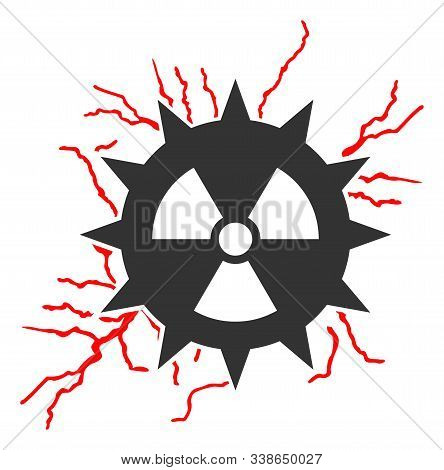 Atomic power sparks raster icon. Flat Atomic power sparks pictogram is isolated on a white background. stock photo