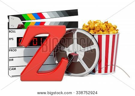 Z movie rating system concept. 3D rendering isolated on white background stock photo