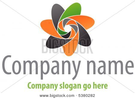 Abstract logo. Vector illustration of desing element. stock photo