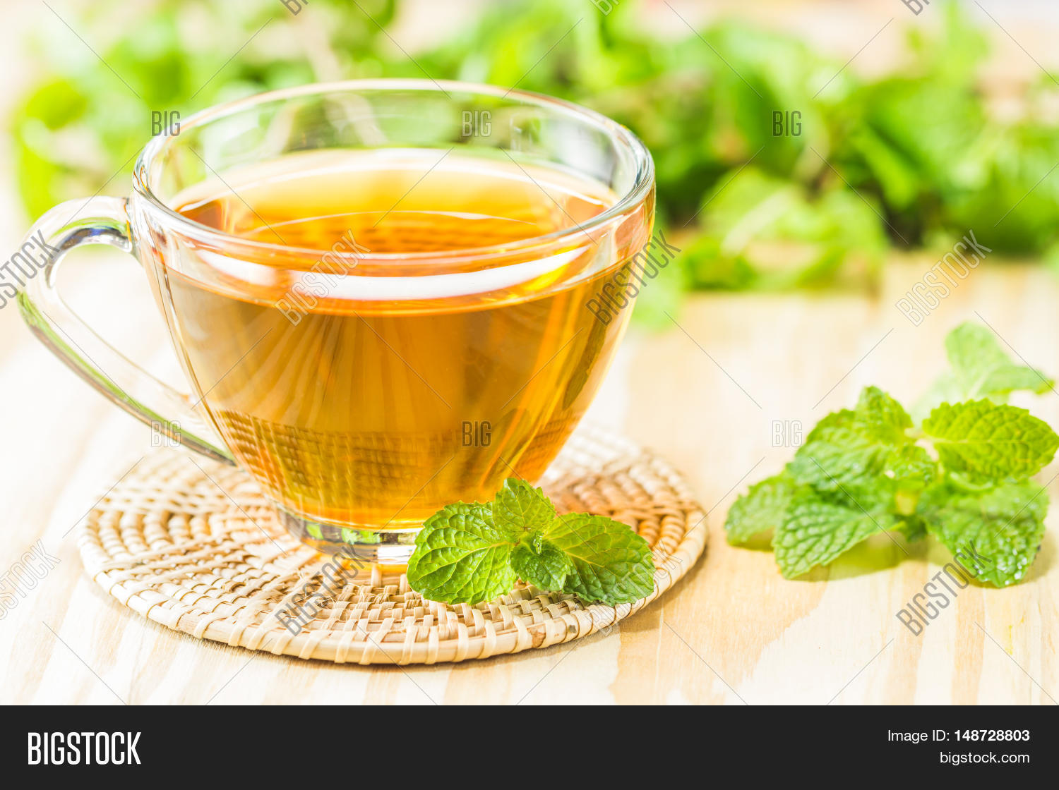 A Cup Of Tea On The Wood Table You Can Apply For Background Backdrop Wallpaper Including Website De 148728803 Image Stock Photo