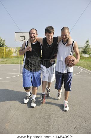 basketball player have foot trauma strech and injury at outdoor  streetbal court stock photo