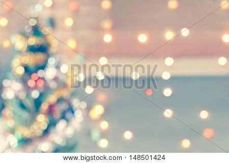 Sparkle Bokeh Christmas Theme With Abstract Style. It Glittering And Gorgoeuse That Suitable For Bac