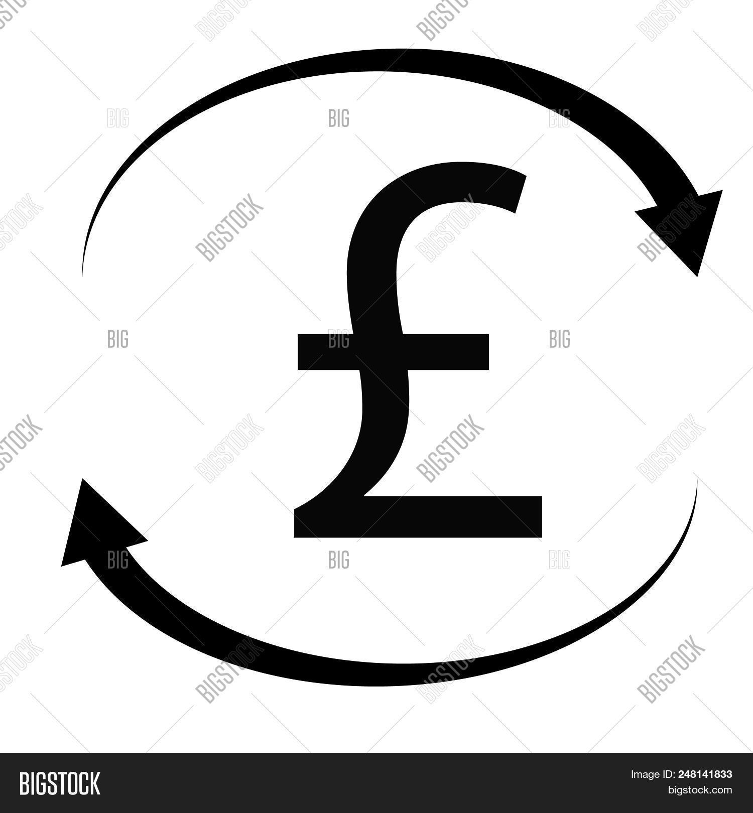 Pound Icon On White Background Flat Style Pound Sign British