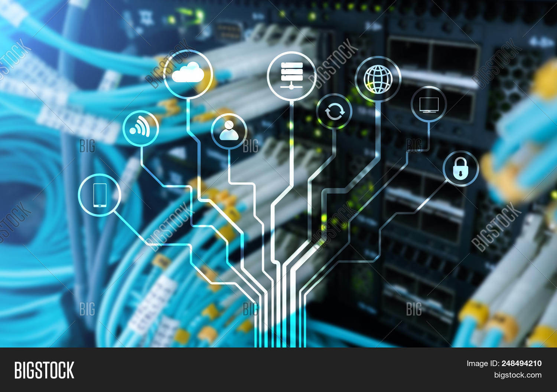 Iot, Internet Of Things, Telecommunication Concept. Iot, Internet Of Things, Telecommunication Conce