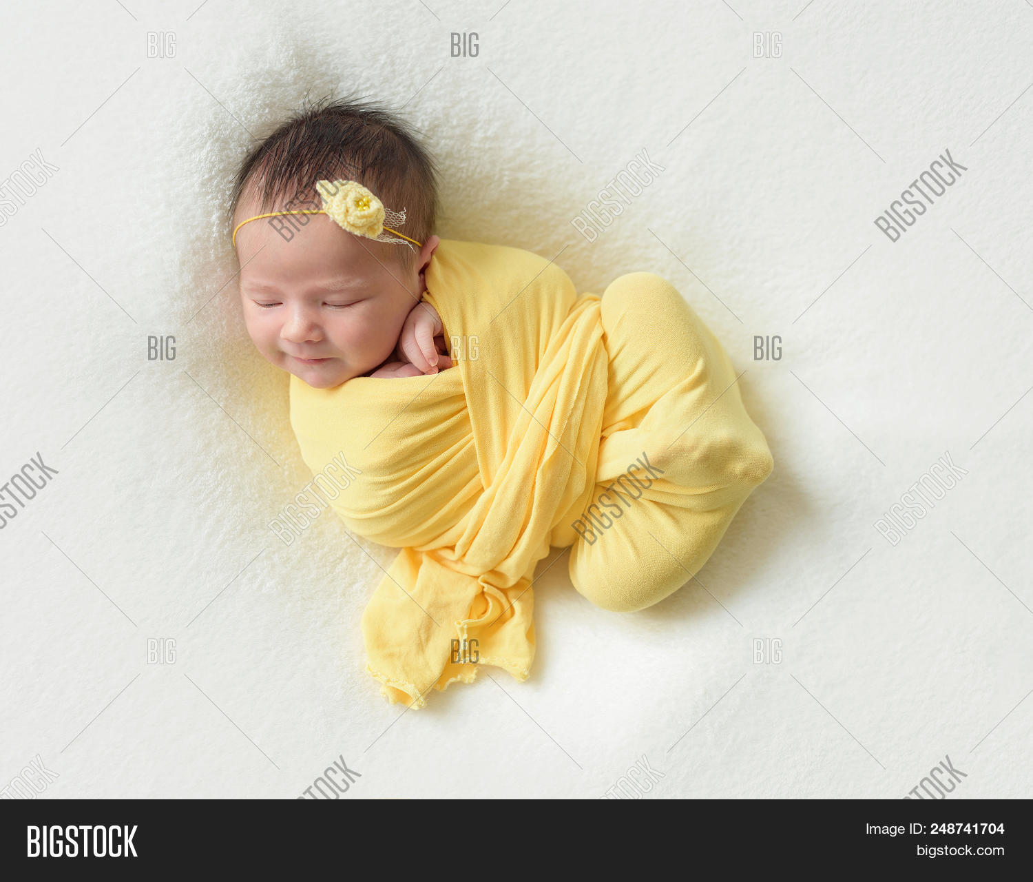 Cute Sleeping Newborn Baby Girl 248741704 Image Stock Photo