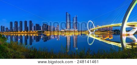 China Nanjing Metropolis Skyline And Trendy Buildings