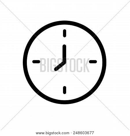 Simple clock icon. Clockface symbol. Timer illustration stock photo