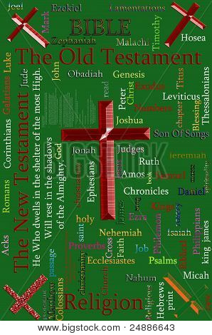 Word cloud concept illustration of BIBLE and Religion stock photo