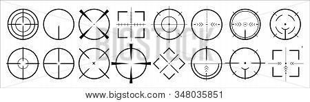 targets and destination of icon set . Target and aim, targeting and aiming. Vector illustration for web design stock photo