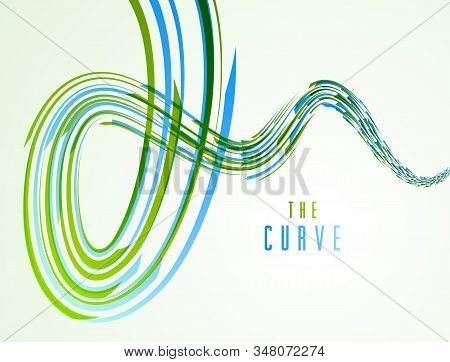 3D abstract dynamic lines in motion vector background, technology or science theme abstraction design element, futuristic template for ads or poster or cover. stock photo