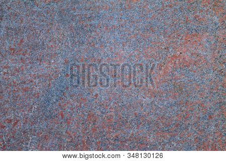 Metal surface old rusty dark abstract empty brown background. Space old dirty grunge wall texture. stock photo