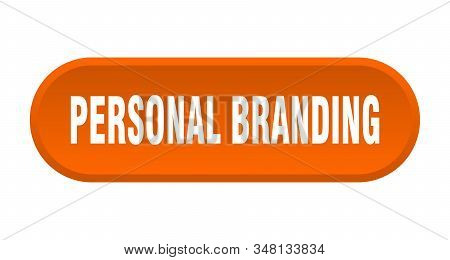 personal branding button. personal branding rounded orange sign. personal branding stock photo