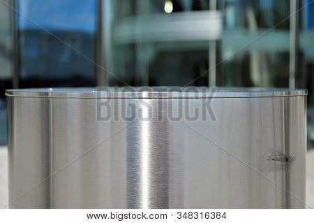 Vehicle access barrier. Perimeter access control for vehicles stock photo