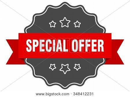 special offer red label. special offer isolated seal. special offer stock photo