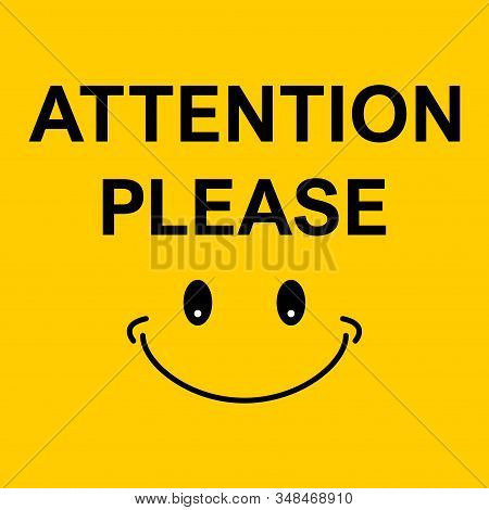Attention please, important icon. Warning sign alert. Design advertising information stock photo