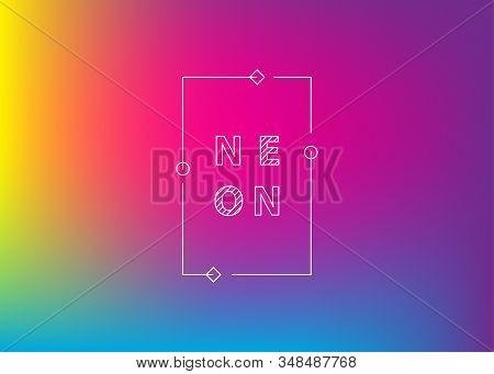 Neon violet gradient background. Abstract Bright color background. Ui Ux trendy web vector backdrop. Neon color trendy vector banner for text. Trendy color lava pink blue violet gradient. stock photo