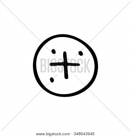 Blood element cartoon hand drawn doodle vector illustration, icon, sticker. Black line art design. Isolated on white background. Easy to change color. Medicine, health care, protection. stock photo