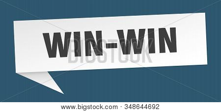 win-win speech bubble. win-win sign. win-win banner stock photo