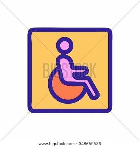Parking for the disabled icon vector. A thin line sign. Isolated contour symbol illustration stock photo
