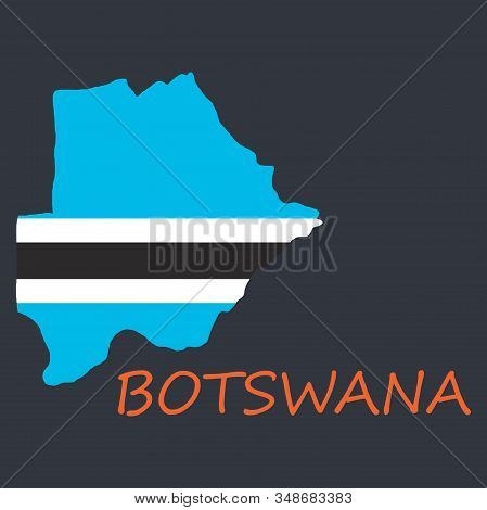 map flag Botswana country, geography, icon country, geography, icon stock photo
