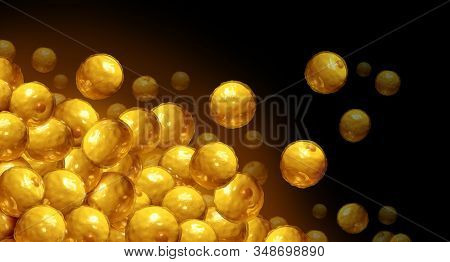 Fat cells anatomy and adipocyte or lipocyte anatomy as an internal microscopic human cell for the storage of fats as a 3D render. stock photo