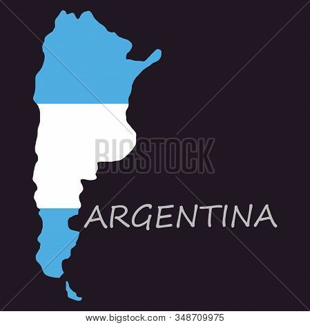 Argentina flag map country, geography, icon country, geography, icon stock photo