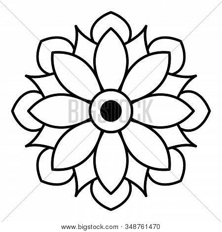 Mandala for coloring book. Arabic, Pakistan, Moroccan, Turkish, Indian, Spain motifs stock photo