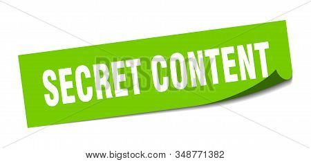 secret content sticker. secret content square sign. secret content. peeler stock photo