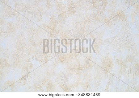 Wall panel grunge white,light brown,beige concrete backdrop.Dirty,dust grey wall concrete,cement backdrop texture and splash brown color brush stroke for architecture or abstract vintage background. stock photo