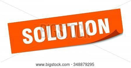 solution sticker. solution square sign. solution. peeler stock photo