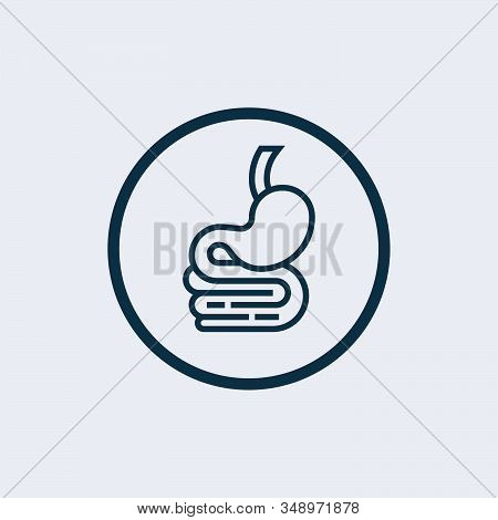 stomach icon isolated on white background from medical collection. stomach icon trendy and modern stomach symbol for logo, web, app, stock photo