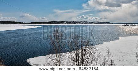 Khibiny mountain range Kirovsk Murmansk region Russia. ** Note: Visible grain at 100%, best at smaller sizes stock photo