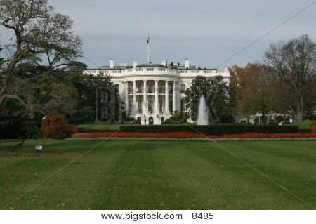 Whitehouse from South Lawn. stock photo