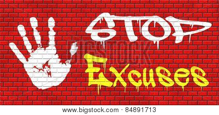no excuses tell the truth, take responsibility and have no regrets. stop lying Being responsible and taking responsibilities is better than telling lies. Say sorry is not enough! No excuse!  stock photo