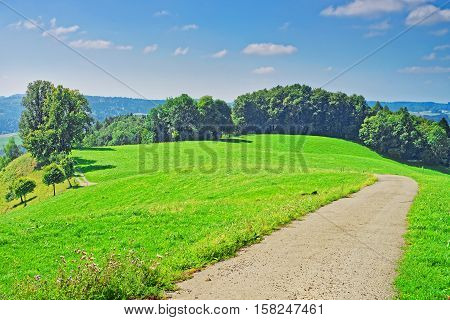 Nature of Village in Turbenthal with Swiss Alps of Winterthur district Zurich canton of Switzerland. stock photo