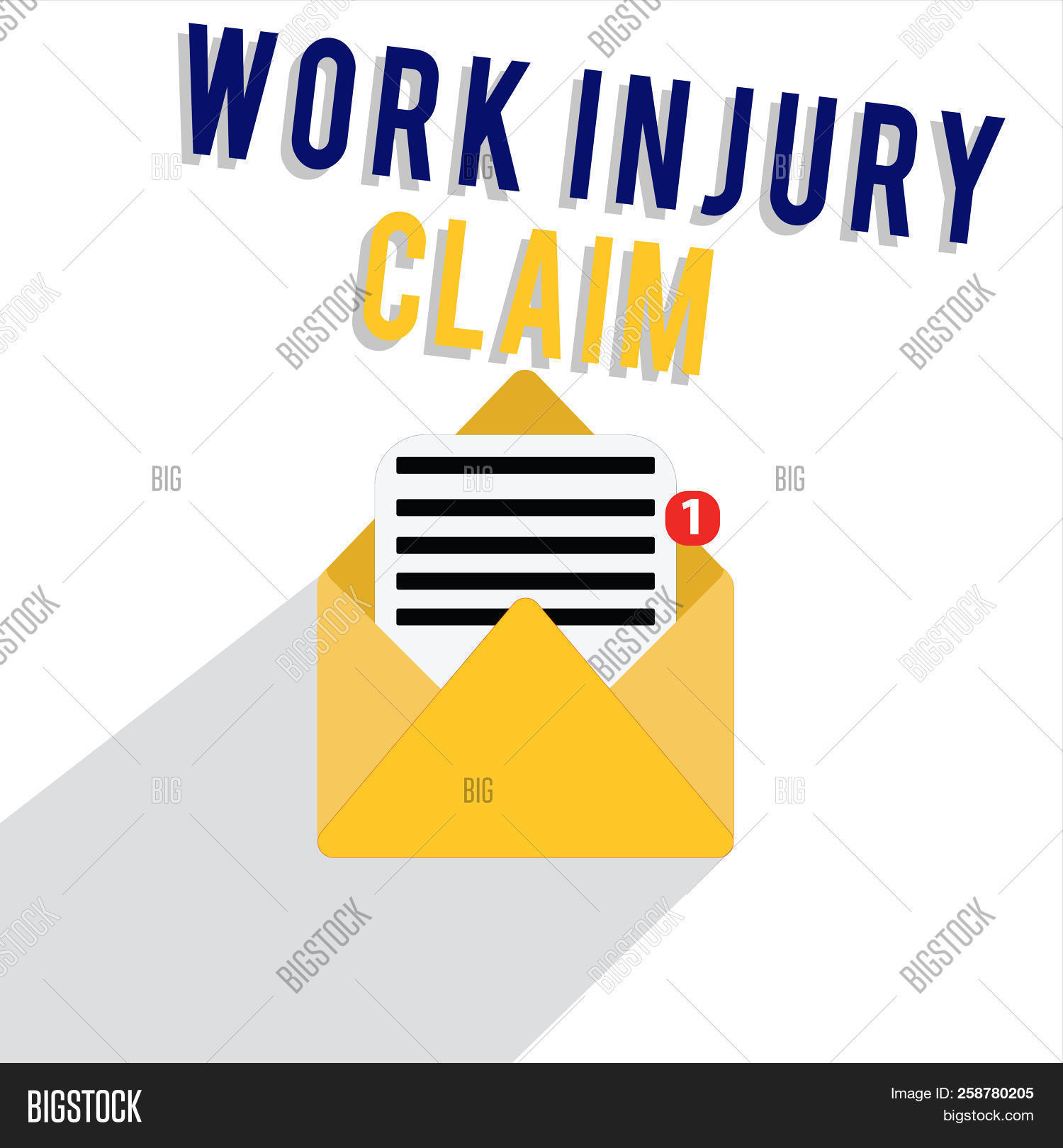 Word Writing Text Work Injury Claim Business Concept For Medical