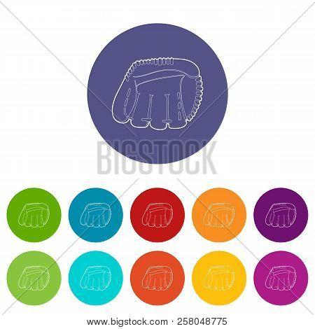Baseball glove icon. Outline illustration of baseball glove icon for web stock photo