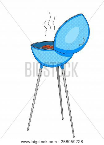 Barbecue or barbeque informally BBQ or barby . Raster Object on white background stock photo
