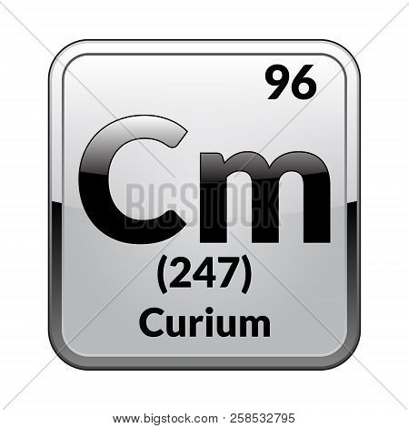 Curium Symbolemical Element Of The Periodic Table On A Glossy